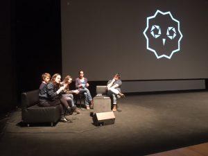Florence Lafond répond aux questions du public en compagnie de Marius Myrmel (Nordland College of Art and Film, Norvège) et Julia Furer (Hochschule Luzern, Suisse). Le film a été chaudement applaudi hier soir.